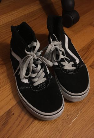 Vans kids black sneakers size 3 for Sale in Bronx, NY