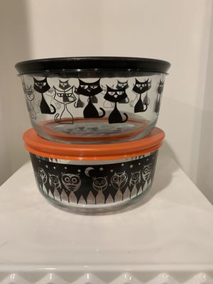 New Pyrex Halloween Cat and Owl Bowls for Sale in Ashburn, VA