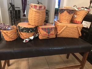 Longaberger Baskets - 8 total for Sale in Ruskin, FL
