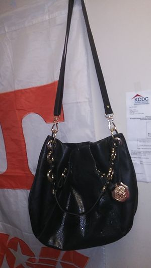 Beautiful black and gold ladies Vince Camuto purse for Sale in Knoxville, TN