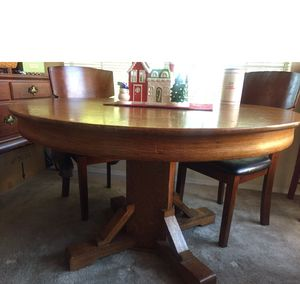 """Beautiful Antique Quarter Sawn Oak 48"""" Dining Table for Sale in Oro Valley, AZ"""