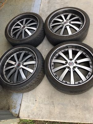 """20"""" rims and tire 5x114 for Sale in Huntington Beach, CA"""