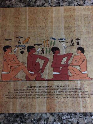 """9"""" x 12"""" Egyptian Reflexology Treatment print, unframed, Fine condition for Sale in Westerville, OH"""