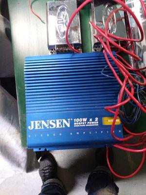 Jensen 2 channel amplifier for Sale in S CHESTERFLD, VA