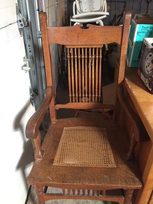Antique Oak & Cane Chair for Sale in Pittsburgh, PA