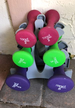 Dumbbell Set 2lb 3lb 5lb rubberized sets for Sale in Pembroke Pines, FL