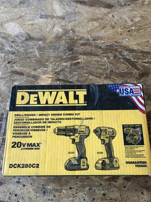 Dewalt 20 volt drill / driver impact driver combo kit with 2 battery's and charger for Sale in Martinsburg, WV