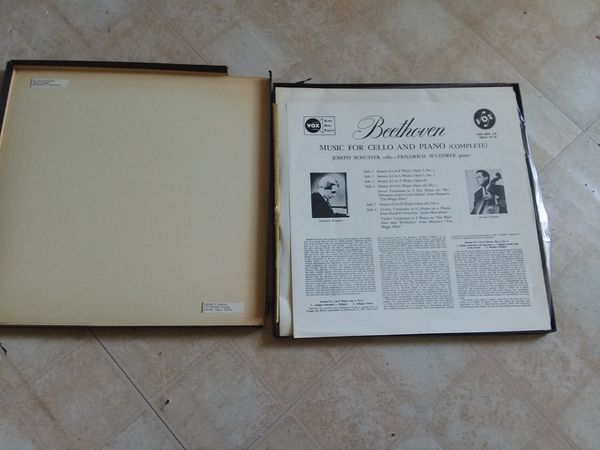 BEETHOVEN MUSIC FOR CELLO & PIANO 2nd Press Cover edition COMPLETE  VOX BOX #8
