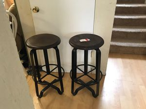 Metal and wood bar stools made in Thailand. New for Sale in Everett, WA