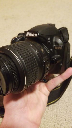 Nikon D3100 DSLR with two lenses, 200mm, Nikon Bag, two dvds, D3100 Magic Latern Guide, orginal reference and User's manual, also small tripod for Sale in Delmar, DE
