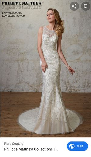 Philippe Matthew Wedding dress. Never worn for Sale in St. Louis, MO