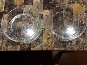 Pyrex clear glass fluted Edge pie plate for Sale in Glendale Heights, IL