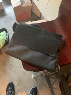 Leather and denim messenger bag for Sale in Austin,  TX