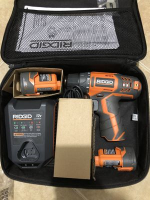 Ridgid 12v drill set for Sale in Dallas, TX