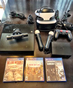 Sony PS4 500 GB And PS VR Headset Core Bundle W/Motion CAMERA W/ Games!. Condition is Used. Games included!!! for Sale in Westminster, CO