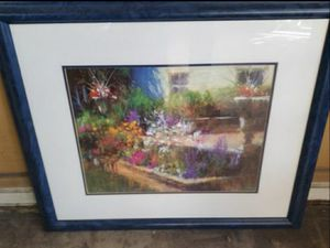 Beautiful oil canvas painting framed and matted. 31 by 27 for Sale in Chicago, IL