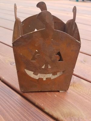 Rustic Halloween Candle Holder for Sale in Lombard, IL