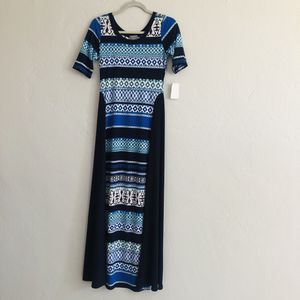 Blue Geometric T-Shirt Maxi Dres for Sale for sale  Long Beach, CA