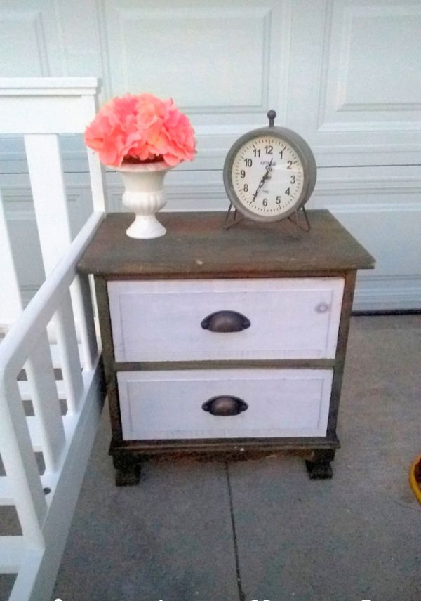 Kids Small Size Rustic Nightstand