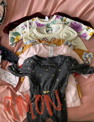 Baby girl clothes. Jumpers. Dresses. Shirts. Onesies. Pajamas. Pants. Sweaters. for Sale in Los Angeles, CA