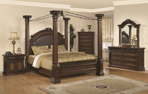 Queen size bed set canopy for Sale in Cleveland, TN