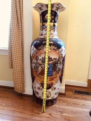 Large Traditional Porcelain Vase Chinese vase Antique Ceramic vase with Base Decorative Porcelain Vase Modern Home for Sale in Rockville, MD