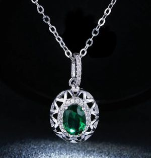 $7 new silver plated adjustable CZ necklace for Sale in Ballwin, MO