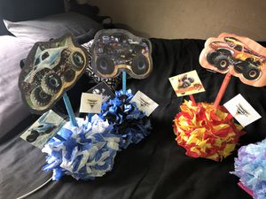 Monster jam center pieces for Sale in Lake Elsinore, CA