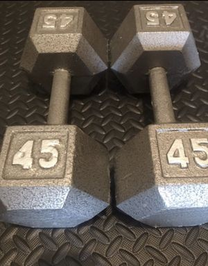 45lbs dumbbell pair 2x45lbs new for Sale in San Leandro, CA