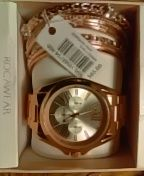 Women's ROCAWEAR WATCH SET W/MATCHING BANGLES