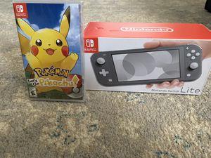 Nintendo Switch Lite w/ Let's Go Pikachu! Game for Sale in El Cajon, CA