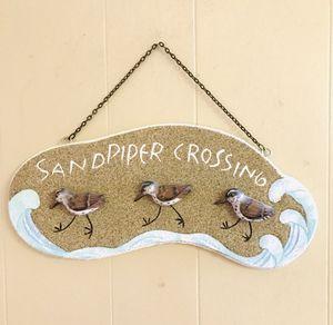 "Coastal Beach Sandpiper Crossing 3 D Sign 14"" l x 10"" h x 2 "" d like new for Sale in Cape Coral, FL"