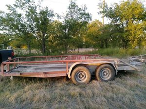 2010 16 ft double axle flat bed trailer for Sale in Watauga, TX