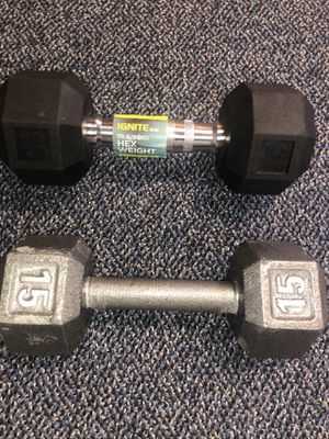 Brand new 15 lb dumbells $100. (PRICE IS FIRM) for Sale in Castro Valley, CA