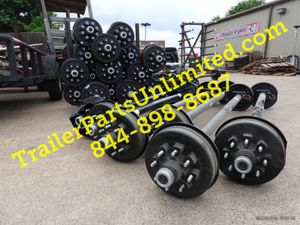 8 lug trailer axle with electric brakes - 7000 lbs capacity for Sale in Huntsville, TX
