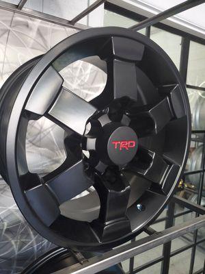 "16"" Toyota TRD satin black wheels fits 4runner Tacoma land cruiser rim wheel tire shop for Sale in Tempe, AZ"