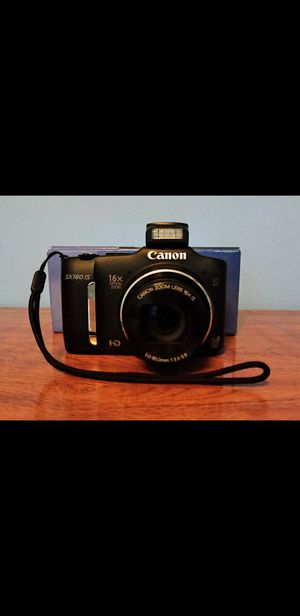Canon PowerShot SX160 IS 16.0 MP Digital Camera with 16x Wide-Angle Optical Image Stabilized Zoom with 3.0-Inch LCD for Sale in Waterbury, CT