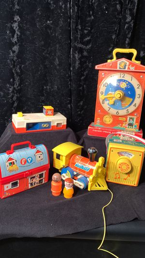 Fisher price toys collectibles kids antiques train clock radio camera for Sale in Duvall, WA
