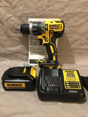 Brand new never used Dewalt XR 20V brushless 2 speed hammer drill tool set. With 3 Ah battery and tool bag for Sale in Vacaville, CA