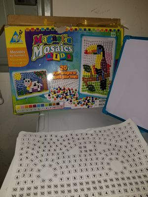 Magnetic mosaics kids and other fun games for Sale in Union City, GA