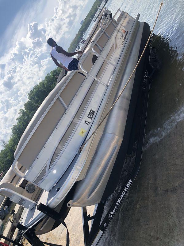 24 ft pontoon for sale cheap no title