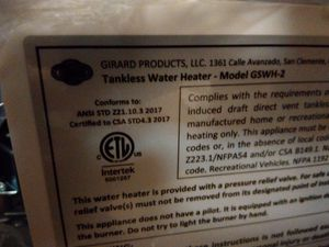 Girard Tankless Water heater (GAS) for Sale in Lynnwood, WA