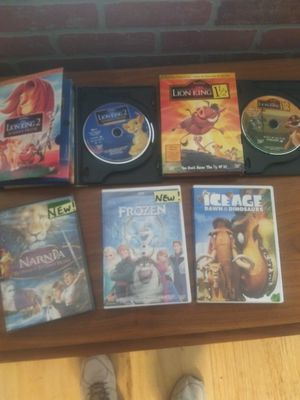 6 like new DVDs Frozen in package new, Narnia , new in package, all other movies excellent, all for $15 for Sale in Boynton Beach, FL