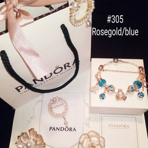 New Sea Blue &rosegold Pandora Bracelet for Sale in Columbus, OH