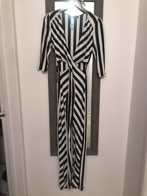 Black and white stripe maxi slit dress with cutouts size Medium for Sale in Huntington Beach, CA