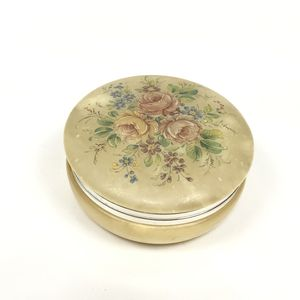 Genuine alabaster hand carved vintage made in Italy floral trinket box for Sale in Fenton, MO