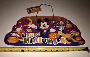 New Disney Mickey Mouse Halloween Sign 8 X 16 Inches for Sale in San Jacinto, CA