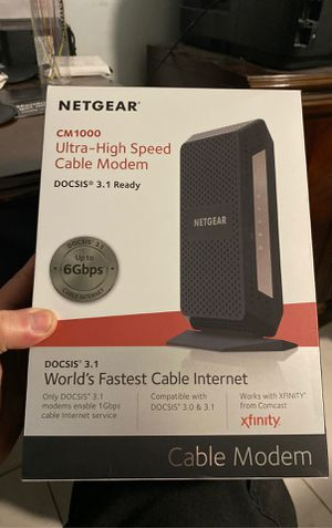 Netgear cm 1000 ultra high speed cable modem docsis 3.1 for Sale in North Miami, FL