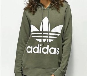 Womens Adidas Trefoil Hoodie Olive Green Small for Sale in Kensington, MD