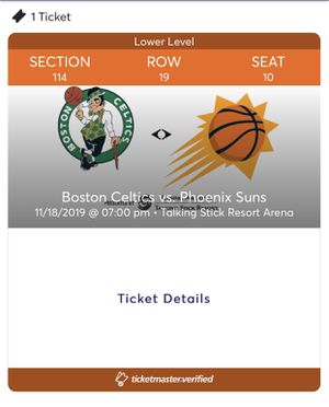 Phoenix Suns ticket- only 1 for Sale in Paradise Valley, AZ
